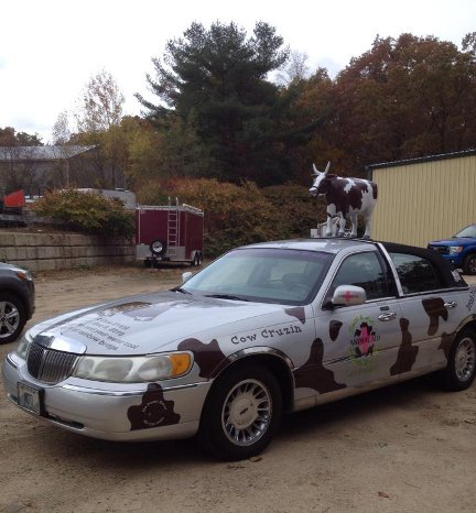 Cow car ready to go