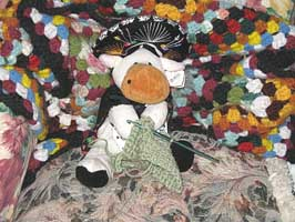 stuffed cow crocheting